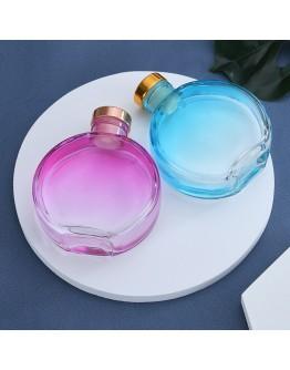 150ml扁圓漸層色玻璃空瓶