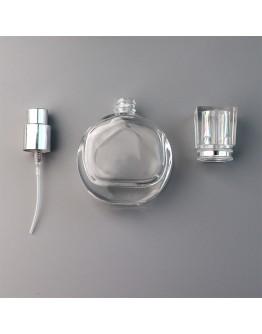 25ml扁圓型鎖口噴霧香水玻璃瓶