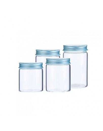 高硼硅寬口鋁蓋玻璃瓶直徑55mm