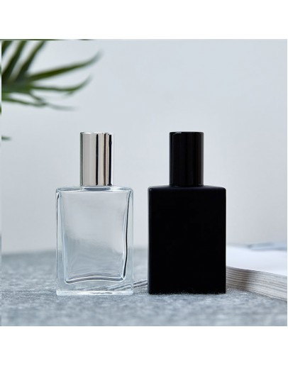 30ml~50ml螺口四方玻璃噴霧香水分裝瓶