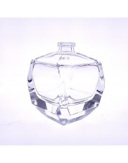 50ml方形晶白料玻璃厚底卡口香水瓶