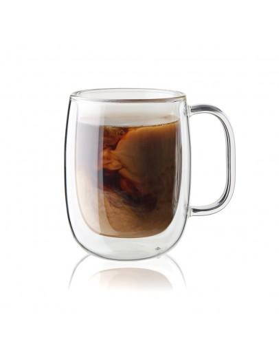 雙層玻璃杯把手250ml