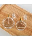 扁圓型鎖口噴霧香水玻璃瓶