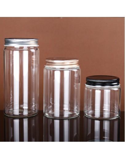 高硼硅寬口鋁蓋玻璃瓶直徑78mm