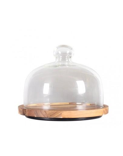 蛋糕玻璃罩含相思木盤