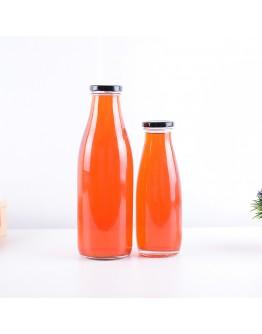 鐵蓋曲線玻璃瓶