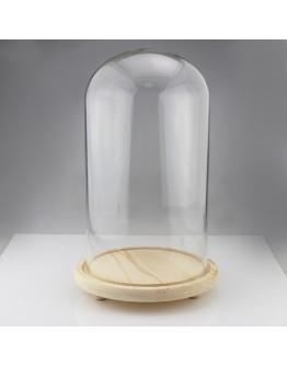 圓型玻璃罩三腳底座直徑9cm