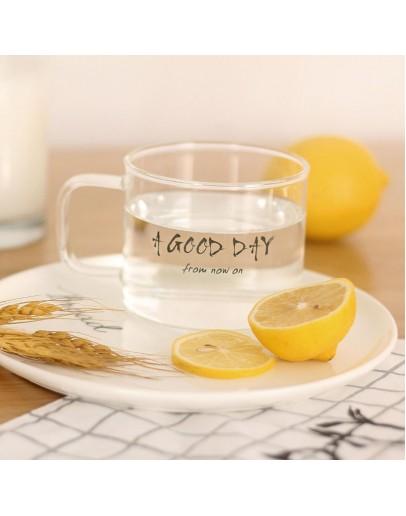 把手玻璃杯good day