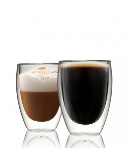 350ml雙層隔熱玻璃杯