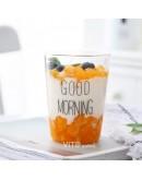 Good morning黑字款玻璃杯