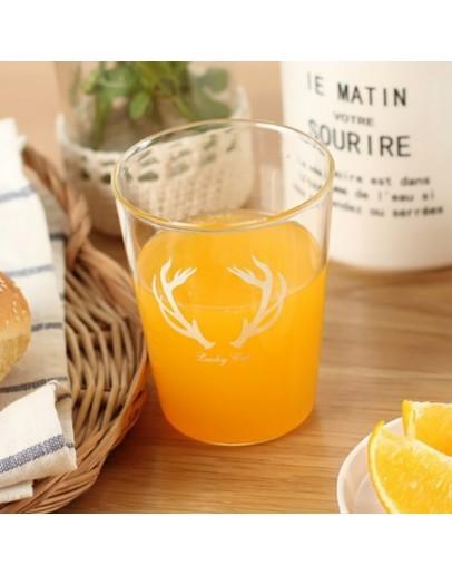 Good morning鹿角玻璃杯