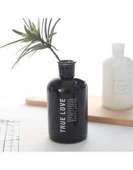 北歐風簡約黑白玻璃花瓶