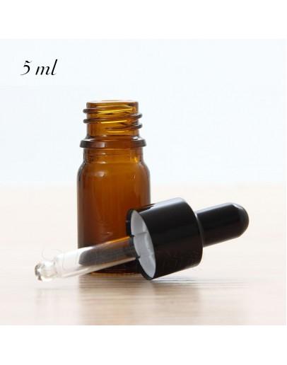 黑矽膠滴管精油瓶 5ml