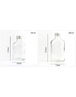100ml扁平玻璃瓶