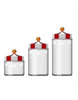 旋轉木馬玻璃密封收納罐