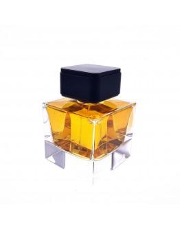 100ml四方形晶白料厚底拋光香水瓶