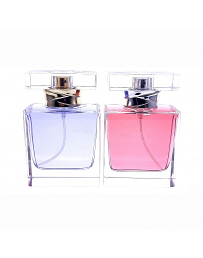 50ml扁方透明香水瓶