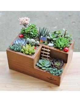 園藝木盒多功能收納盒