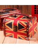 復古英倫風皮革手提箱首飾盒