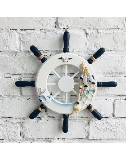 地中海32公分船舵掛飾