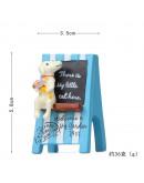 小白狗藍廣告招牌花插
