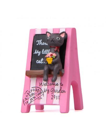 小灰貓粉廣告招牌花插