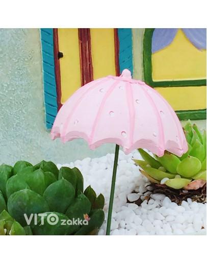 雨傘粉色多肉花插