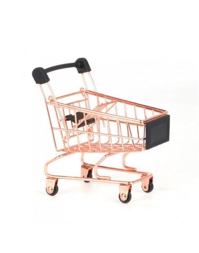 迷你購物車小推車-玫瑰金