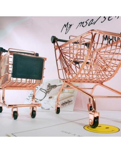 玫瑰金扇形購物車