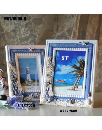 地中海風格木質相框