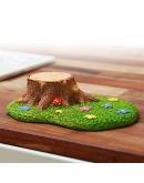 草地樹樁療癒景觀擺飾