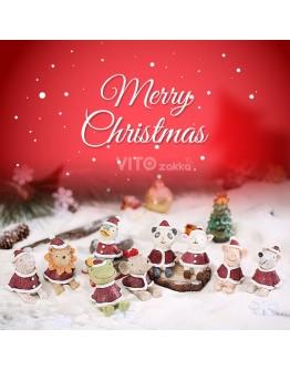 聖誕物語仰望天空小動物