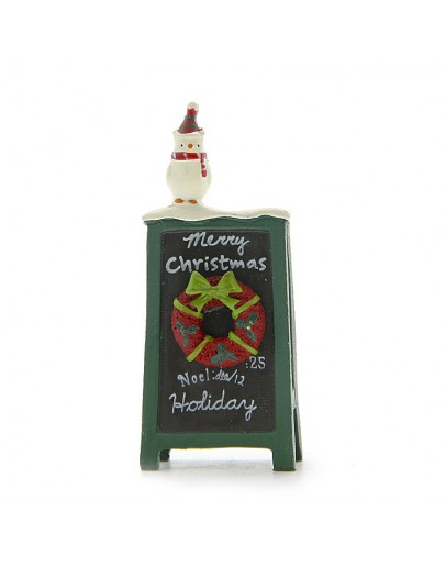 聖誕雪人廣告牌微景觀裝飾