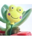 黃色小鴨微笑青蛙花插