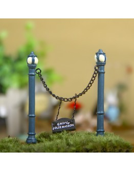 雙柱圍欄園藝微景觀創意花插