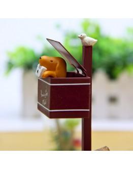 鐵箱信封小狗微景觀創意花插