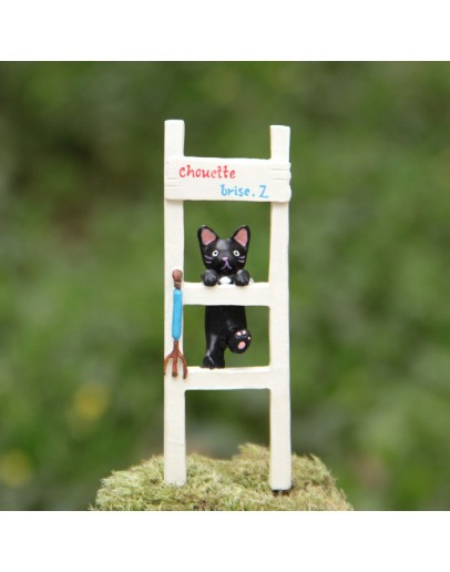 貓咪爬樓梯微景觀花插
