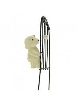 爬鐵門歡迎小狗微景觀創意花插