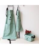 棉麻親子圍裙廚房烘焙圍裙