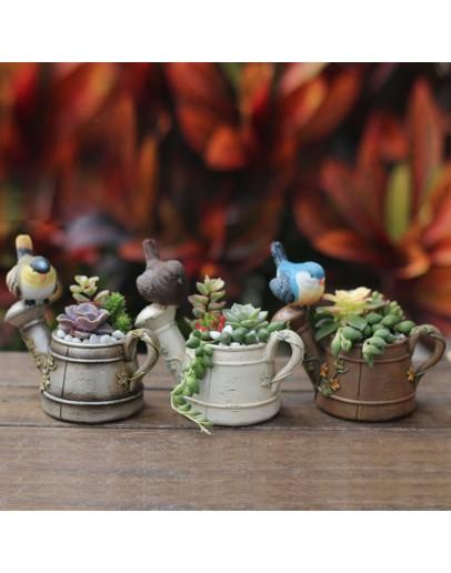 小鳥迷你花灑多肉花盆