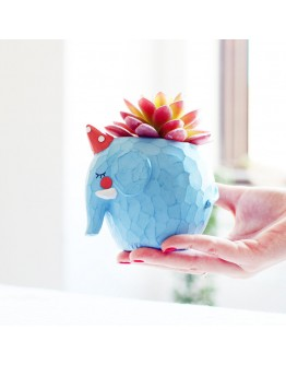 花園派對藍調小象花盆