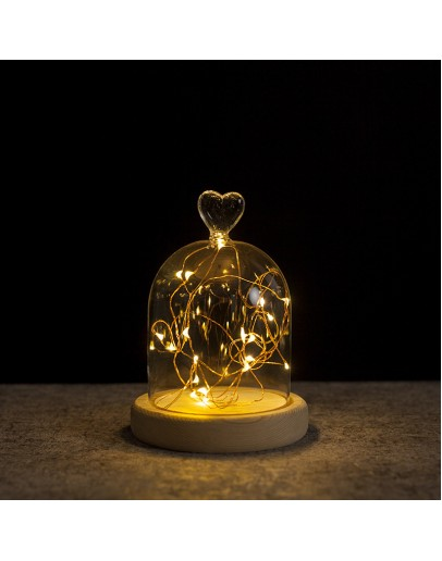 火樹銀花愛心頭造型LED夜燈