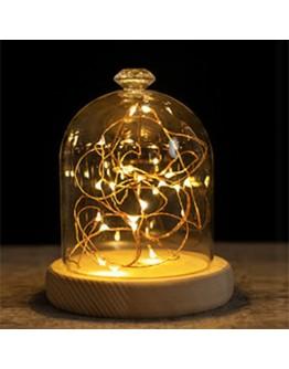 火樹銀花鑽石頭造型LED夜燈