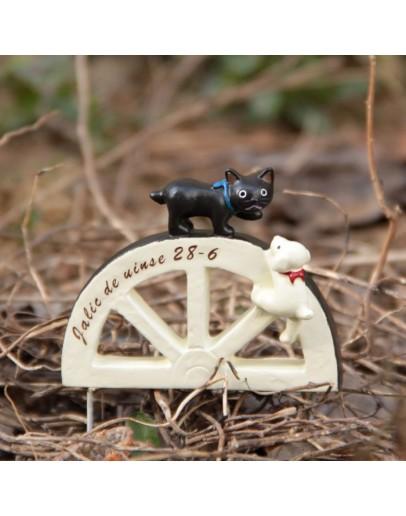 拱門黑貓白狗創意花插