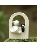 小狗黑貓圍牆微景觀創意花插