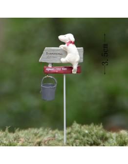 小狗與路標水桶微景觀創意花插