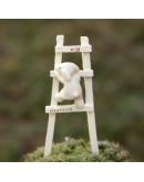小狗爬樓梯微景觀創意花插