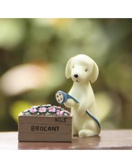 小狗澆花園藝微景觀創意花插