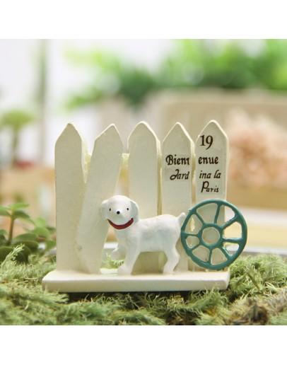 小狗柵欄車輪微景觀創意花插