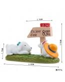 小狗兔子路標微景觀創意花插
